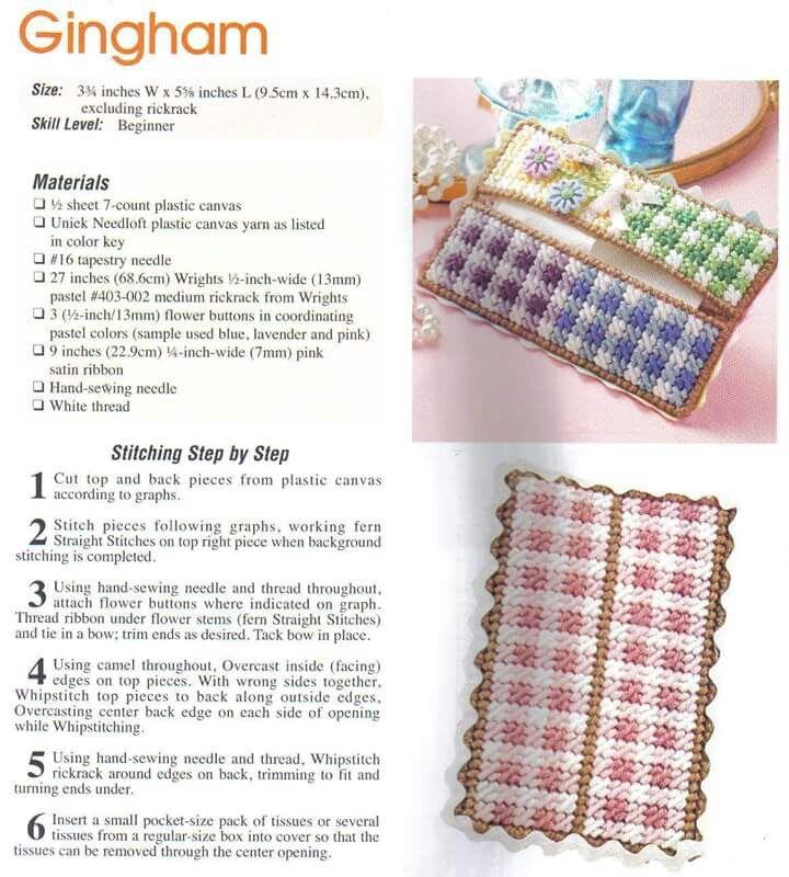 Gingham Plastic Canvas Tbc Plastic Canvas Tissue Boxes