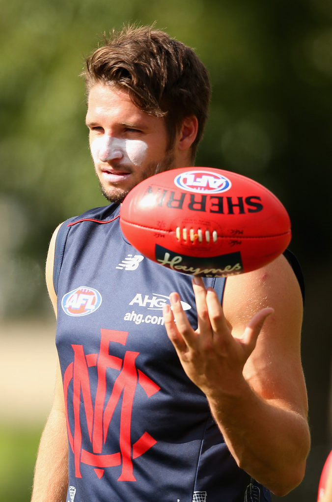 Footy Players — Jesse Hogan of the Melbourne Demons