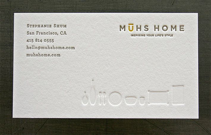 Minimalistic letterpress business card muhshome identity minimalistic letterpress business card muhshome reheart Images