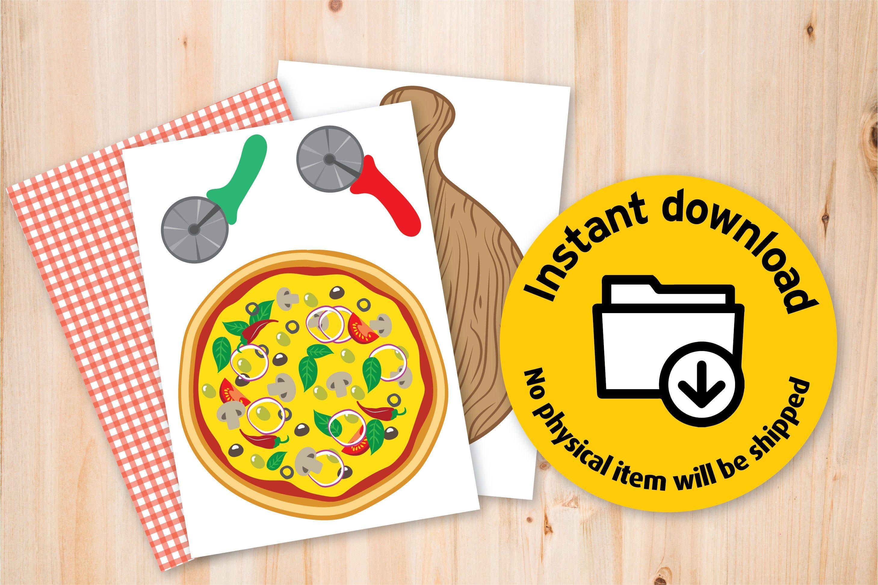 Printable Pizza game, Diy Printable game for kids