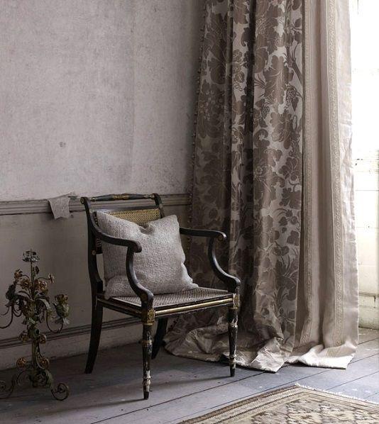 Fin De Siecle Silk Damask Fabric Silver Grey Silk Curtain Damask Fabric Damask Curtains Silk Curtains Room Furnishing