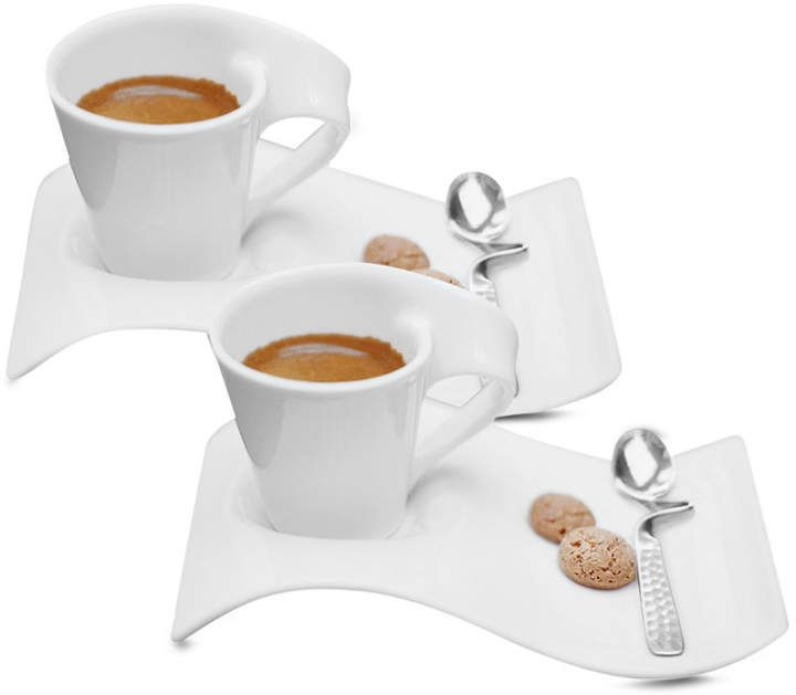 Villeroy & Boch Set Of 2 New Wave Caffe Espresso Cups And
