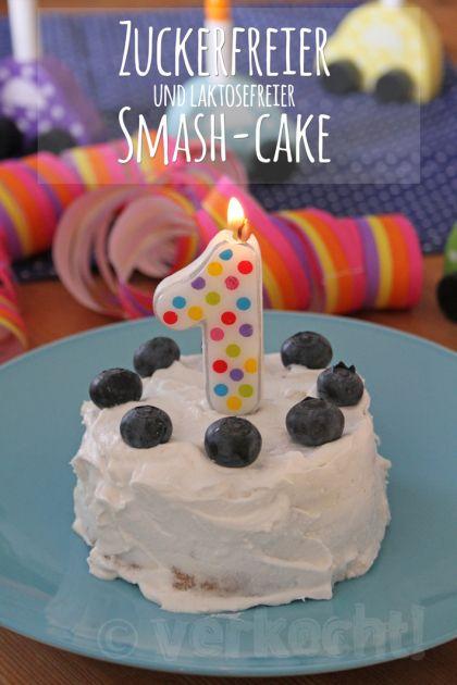 Kleiner Zuckerfreier Und Laktosefreier Smash Cake Hausgemachte Babynahrung Laktosefreier Kuchen Kuchen Baby Geburtstag