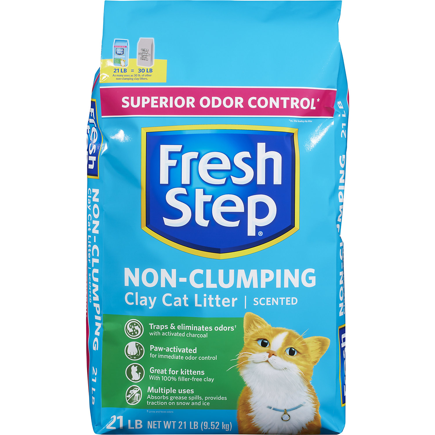 Fresh Step Non Clumping Premium With Febreze Freshness Scented Cat Litter 21 Lbs Clay Cat Litter Cat Litter Clay Cats
