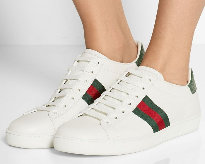 Low-Key Alessandra Ambrosio Wears Embroidered Gucci 'Ace' Sneakers