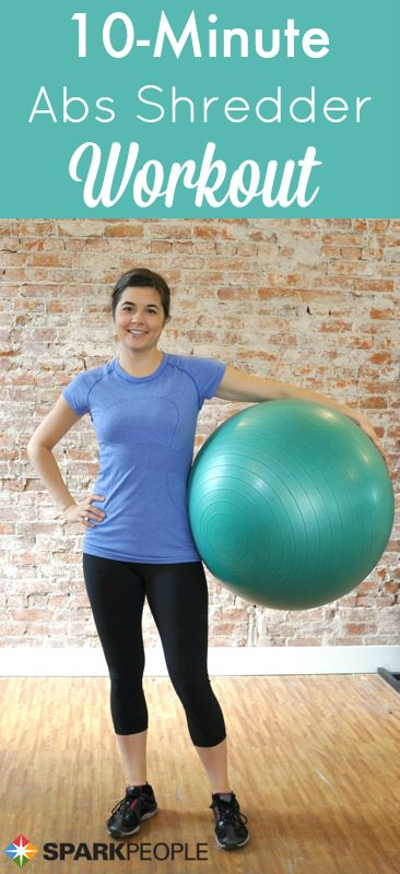 Try these fun ball exercises to work your entire core (abs, obliques, back  and more) in just 10 minutes!   via @SparkPeople #fitness #workout #video