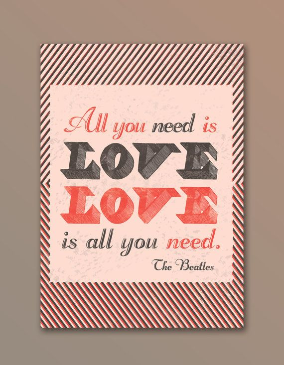 The Beatles Quote Love Is All You Need Posters Pinterest Interesting Beatles Quotes Love