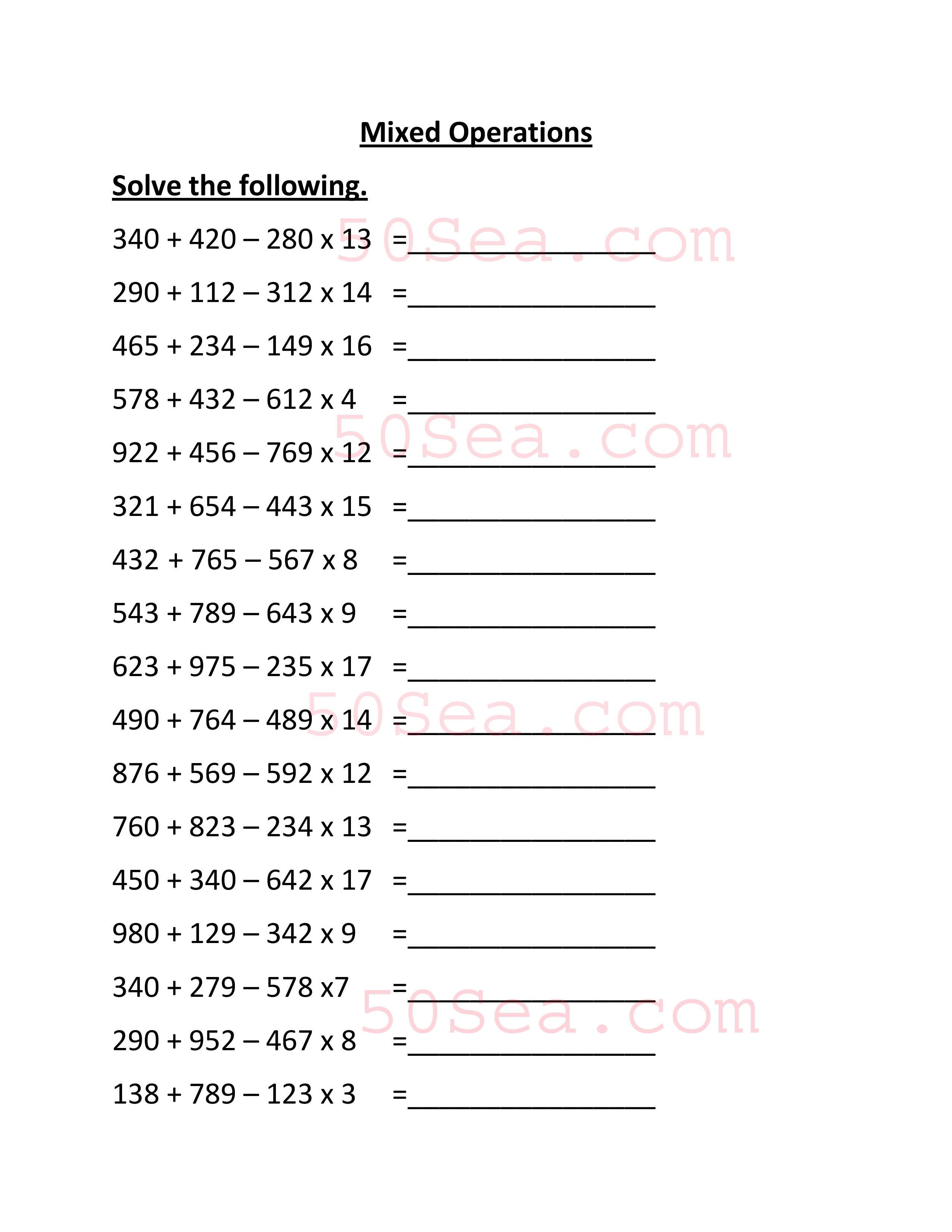 Pin By 50sea On Worksheets