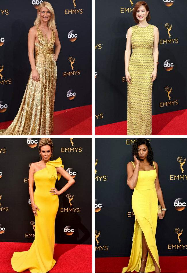 Yellow at the red carpet! #Emmys2016!