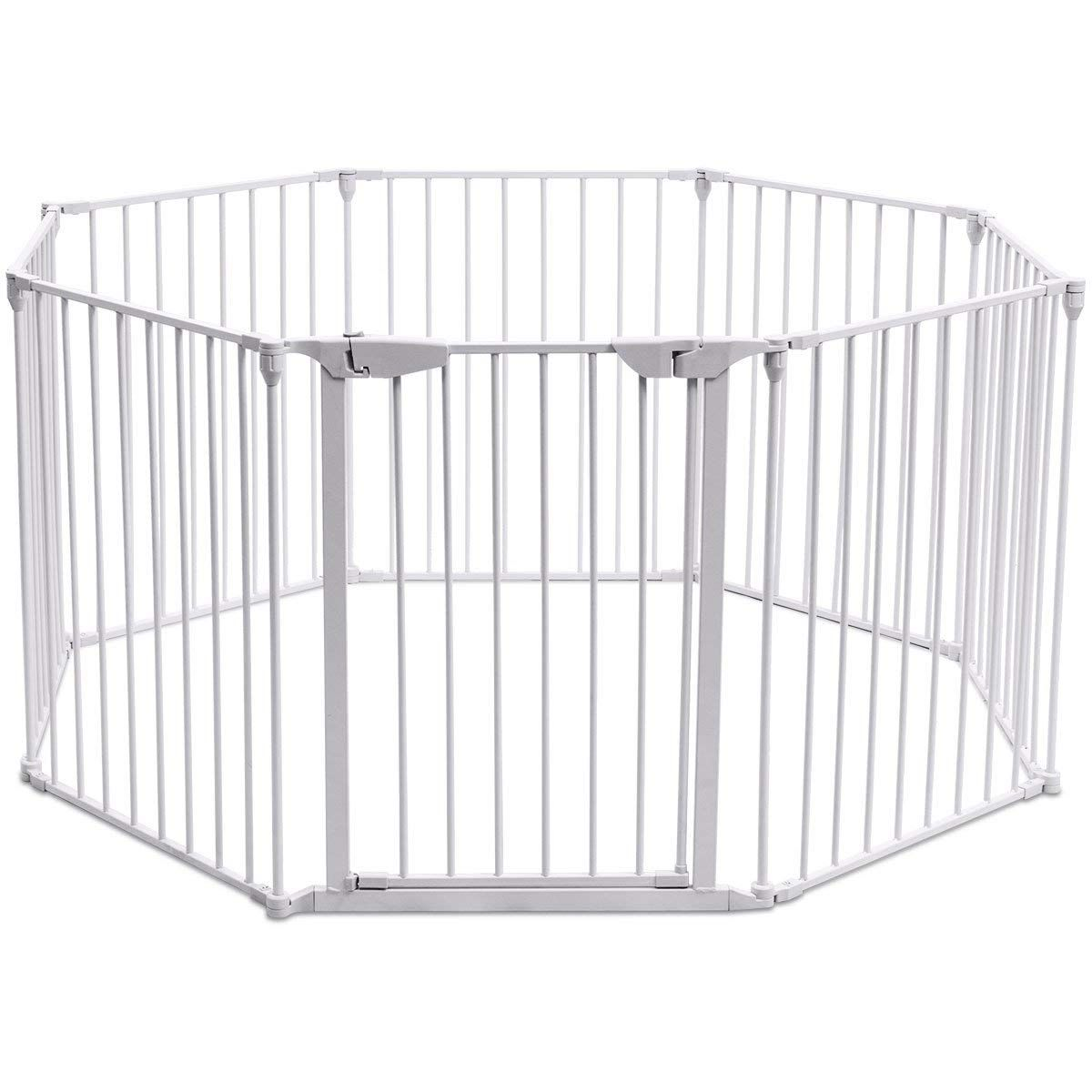 Costzon Baby Safety Gate 4 In 1 Fireplace Fence Wide Barrier