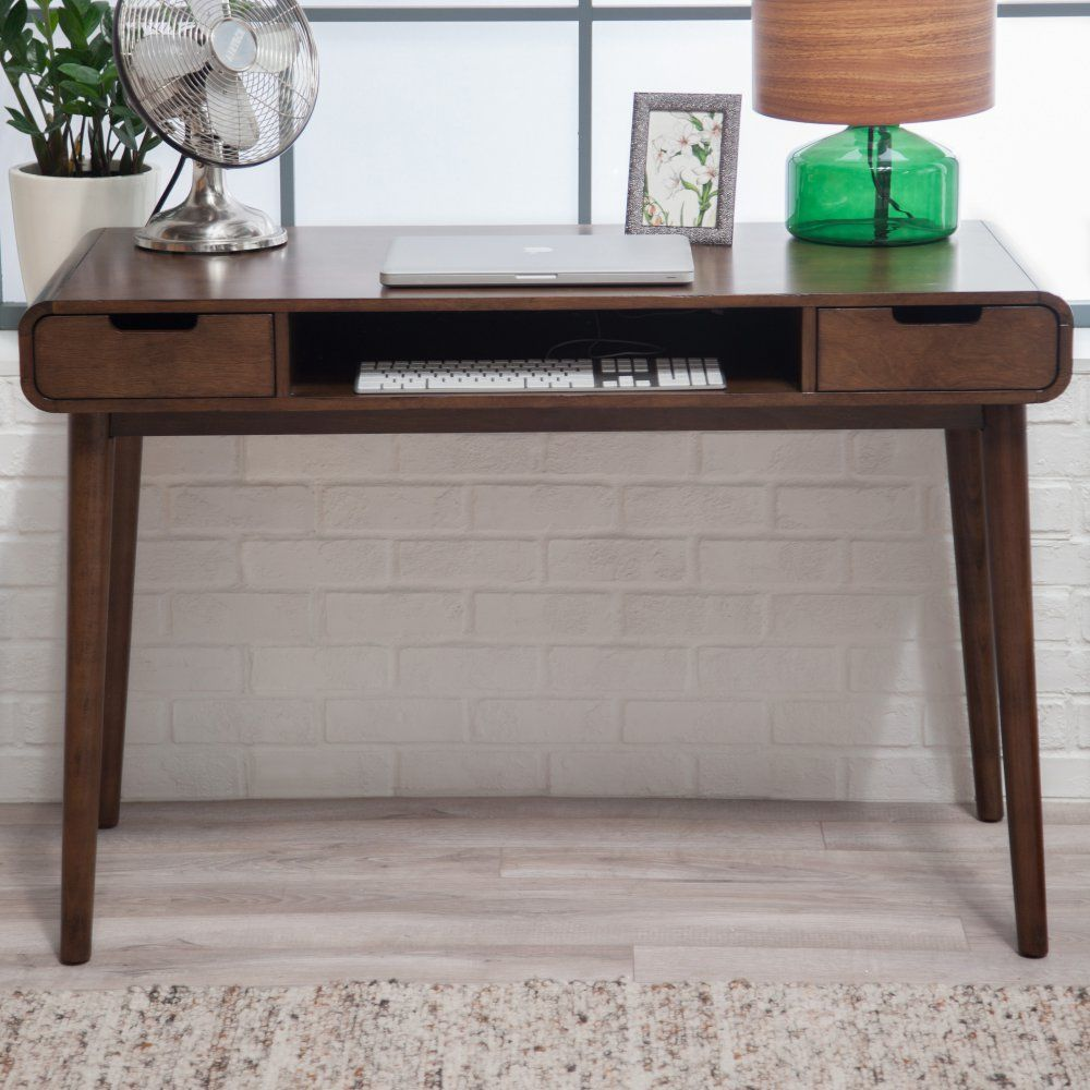 Belham Living Carter Mid Century Modern Writing Desk Www Hayneedle Com Writing Desk Modern Desk Writing Desk