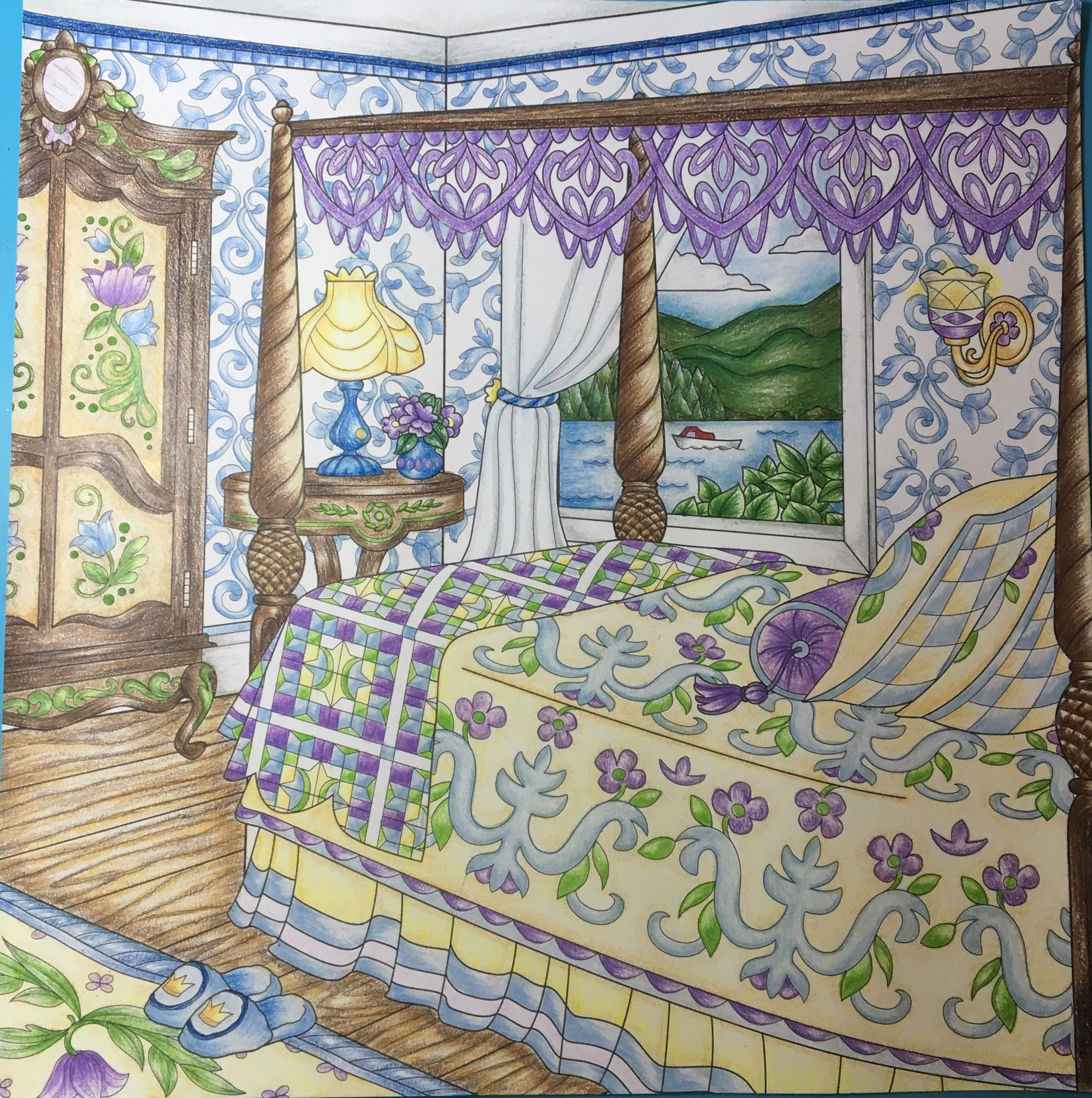 Adult coloring book the inspired room interior design coloring book - From Come Home To Color Coloring Book By Debbie Macomber Colored By Linda