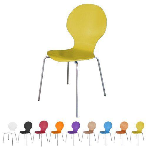 Stuhl Stapelbar Design Klassiker Metall Holz Sehr Belastbar Gelb Off Price Store Http Www Amazon De Dp B00j24ovz Stuhle Stapelbar Metallstuhle Holzdesign