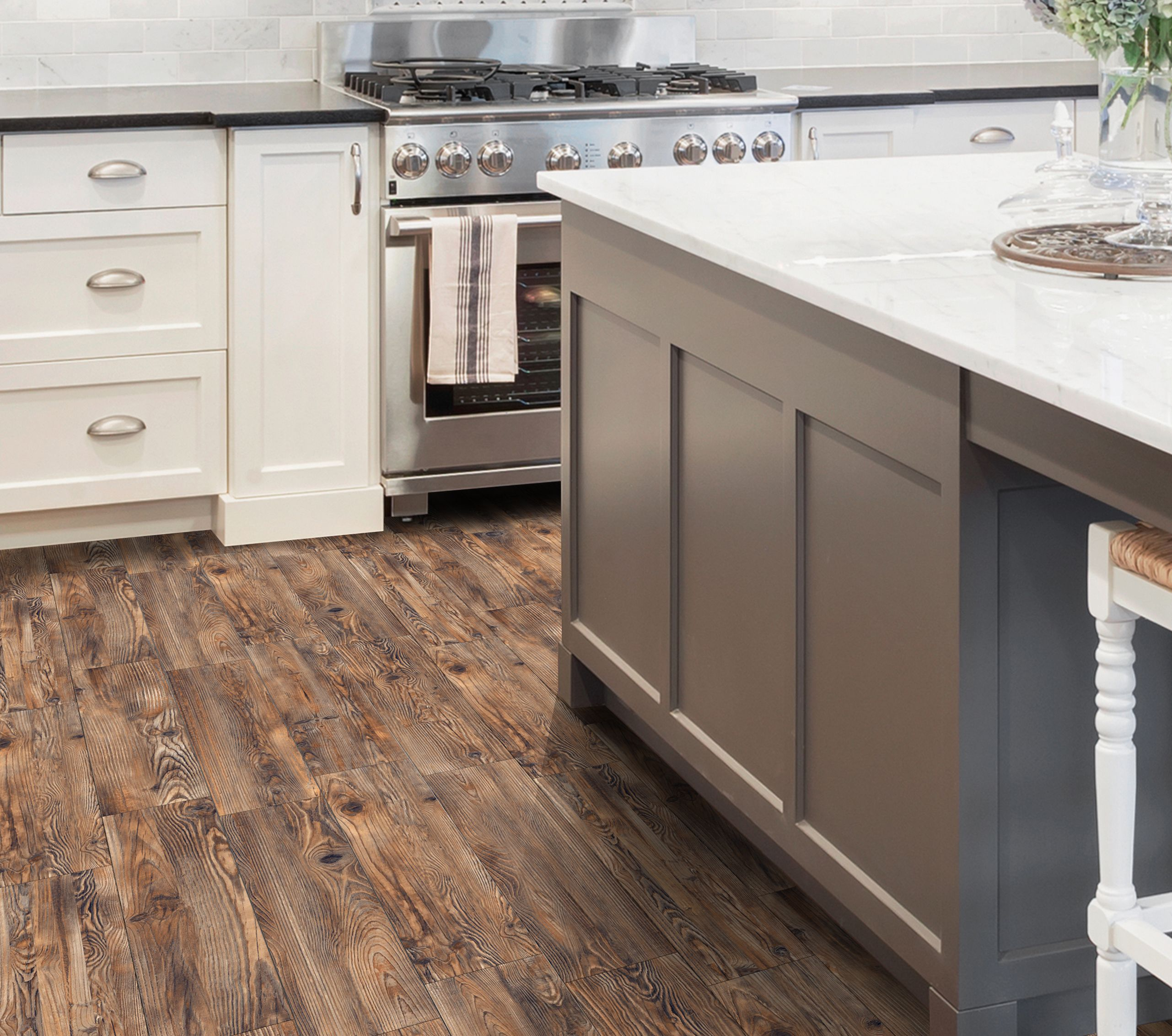 Style Selections Lethbridge Pine 8 In X 48 In Glazed Porcelain Wood Look Floor Tile Lowes Com Flooring Kitchen Redo Tile Floor