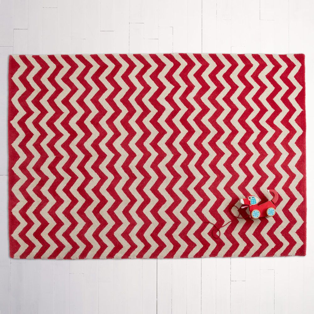 Red Chevron Rug Rugs Room Accessories