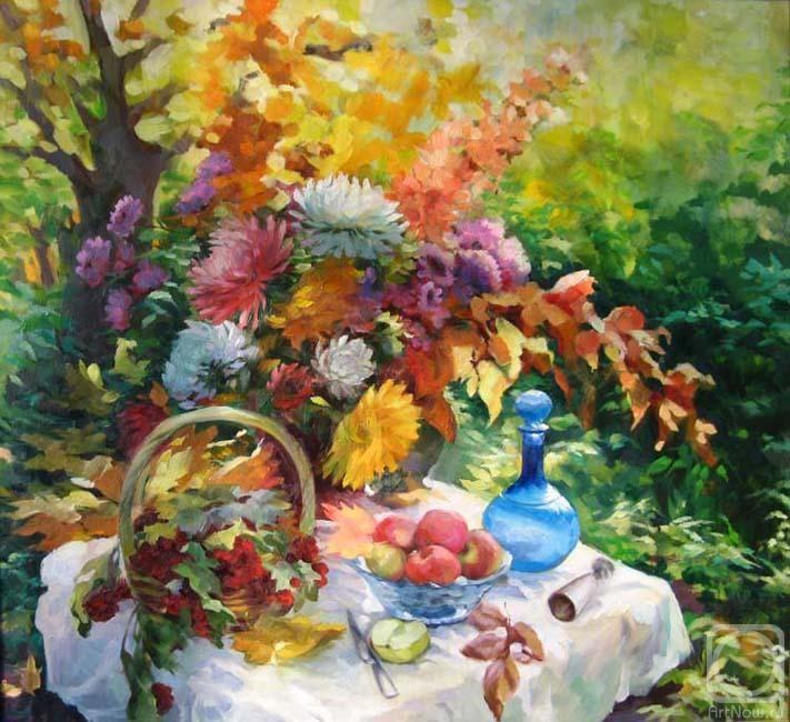 Осень в саду» картина Ведешиной Зинаиды маслом на холсте ...