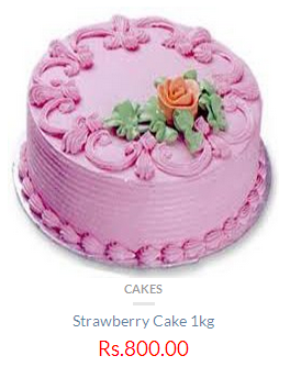 Strawberry 1 Kg Cake Rs 800 Only