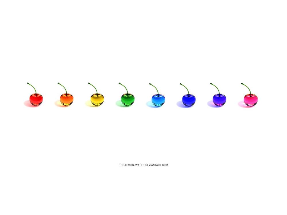 Rainbow Cherries - 100000 Views by THE-LEMON-WATCH on DeviantArt