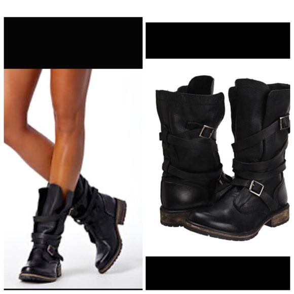 6bfba22a905 Steve Madden Black Leather Combat Boots The Steve Madden Banddit Boots are  perfect for women would