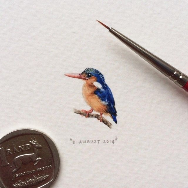 Artists Daily Illustrations Are Each Tiny Enough To Be A Postcard - Artist creates miniature paintings everyday entire year