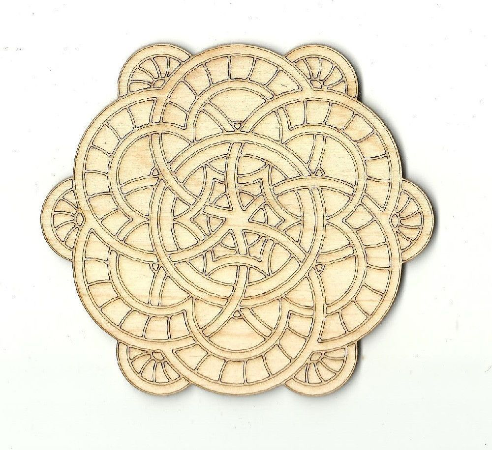 Mandala Wall Decor Engraved Unfinished Laser Cut Wood DSN6 | Etsy ...