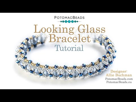 Photo of Looking Glass Bracelet- DIY Jewelry Making Tutorial by PotomacBeads