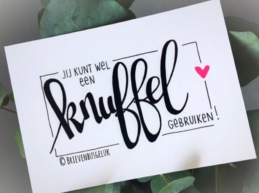 "Brievenbusgeluk on Instagram: ""• K N U F F E L • ©️⠀ ..........."