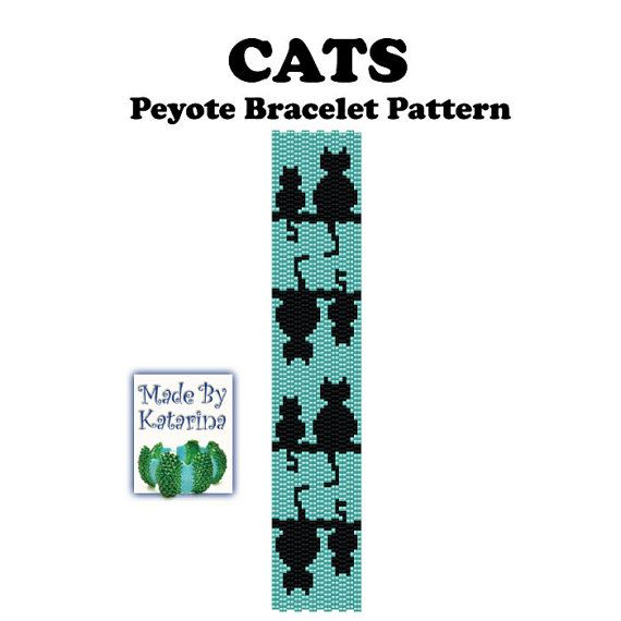 Peyote Pattern - Cats - INSTANT DOWNLOAD PDF - Peyote Stitch ...