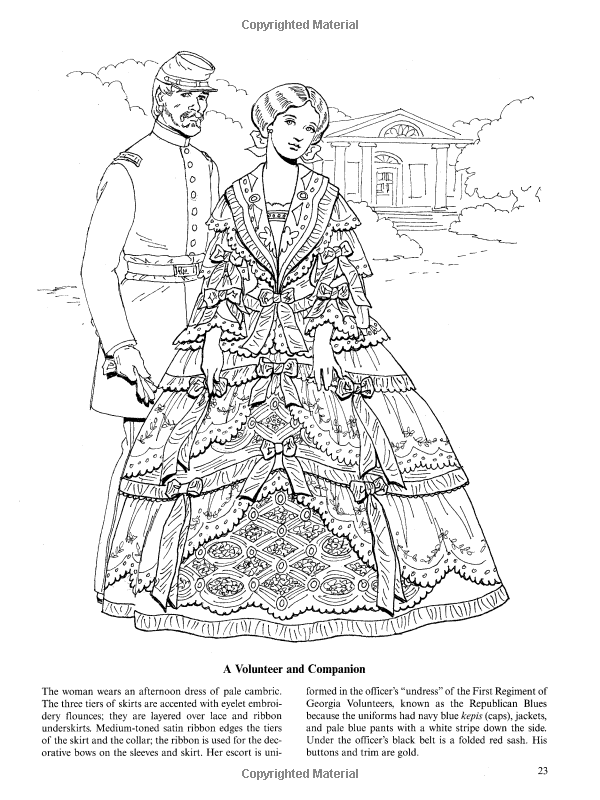Fashions Of The Old South Colouring Book Dover Fashion