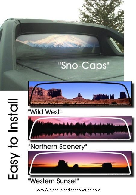 Rear Window Graphic In 4 Styles Rear Window Decals Avalanche
