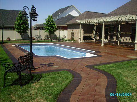 Patio Deck Concrete Staining Gorgeous Saw Cut Pool Deck  Astronomy  Pinterest