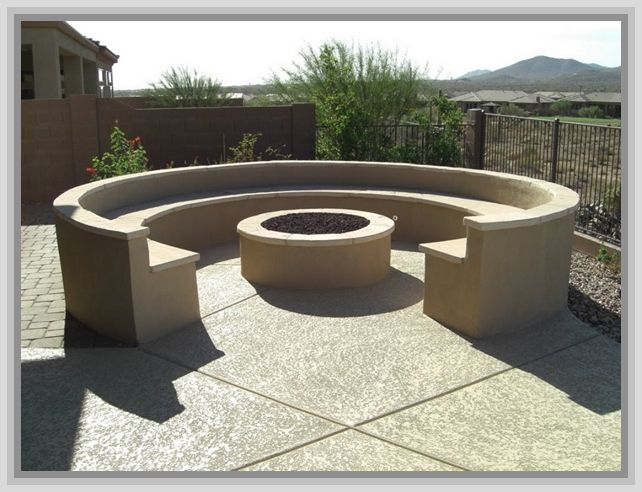 Round Concrete Forms Fire Pit