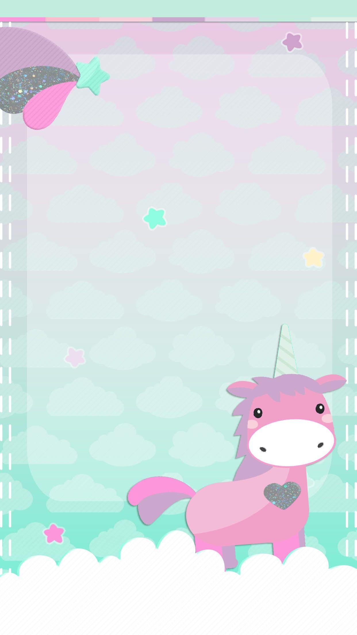 cute unicorn wallpaper licorne pinterest licorne fond d 39 cran mobile et fond ecran. Black Bedroom Furniture Sets. Home Design Ideas