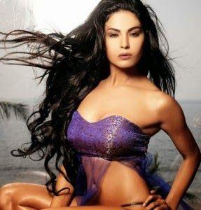 Nesha Jawani Ki: Veena Malik Hot In White Dress Semi Nude