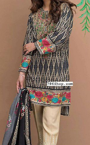 Grey Lawn Suit   Buy Zeen Fashion Dress is part of lawn Design Pakistani - Pakistani Lawn Suits with prices online shopping in USA, UK    Pakistani Lawn clothing for sale with Free Shipping  Call +1 5123801085
