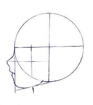 Рисуем аниме парня в профиль