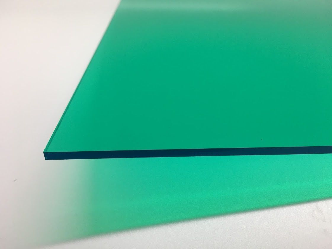 Teal Green Transparent Acrylic Plexiglass Sheet 1 8 X 12 X 12 2120 Plexiglass Sheets Plexiglass Teal Green