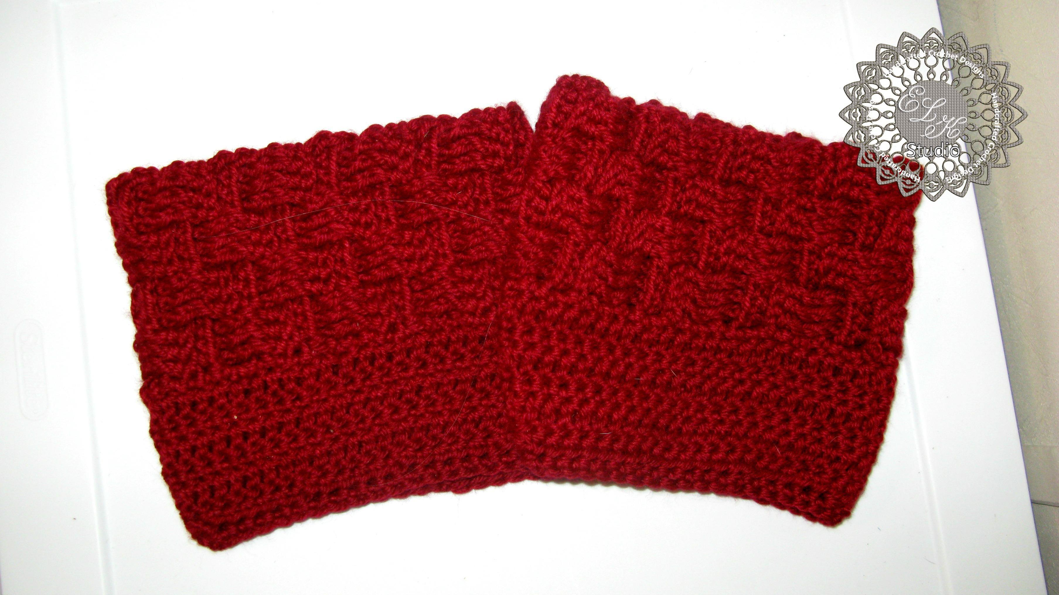 Free Basketweave Boot Cuff Pattern   Crochet, Patterns and Crochet ...