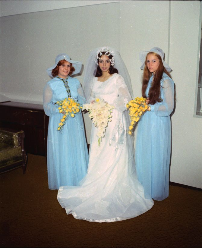 Image result for ugly bridesmaid headgear