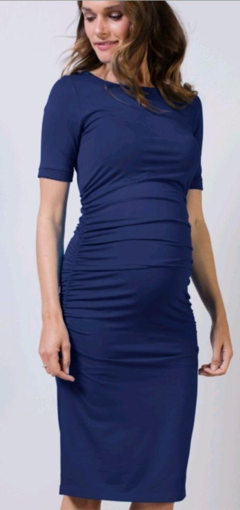 89c4bf7ec1bbc Isabella Oliver dark navy blue ruched t-shirt maternity dress SZ 3 (6/8) # IsabellaOliver #StretchBodycon #Maternity