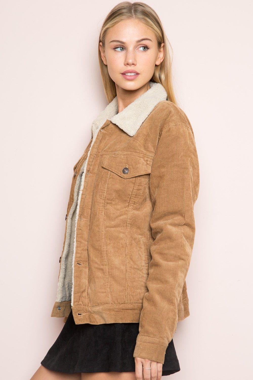 59caad5cf Brandy ♥ Melville | Elisha Fur Corduroy Jacket - Outerwear ...