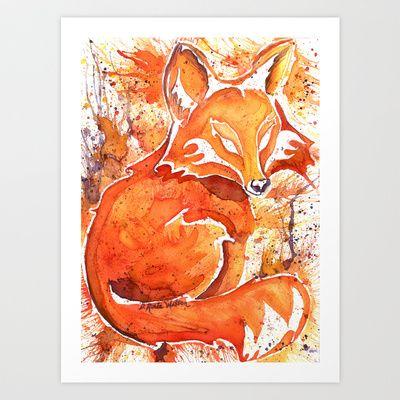 Fox (Spirit of the...) Art Print by D. Renée Wilson - $19.99
