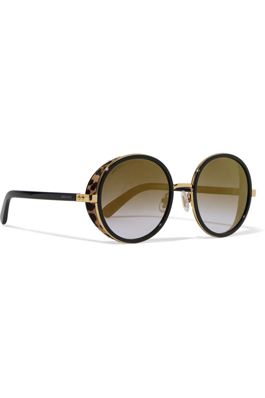 Round-frame Embellished Rose Gold-tone And Acetate Sunglasses - one size Jimmy Choo London N7HAZ