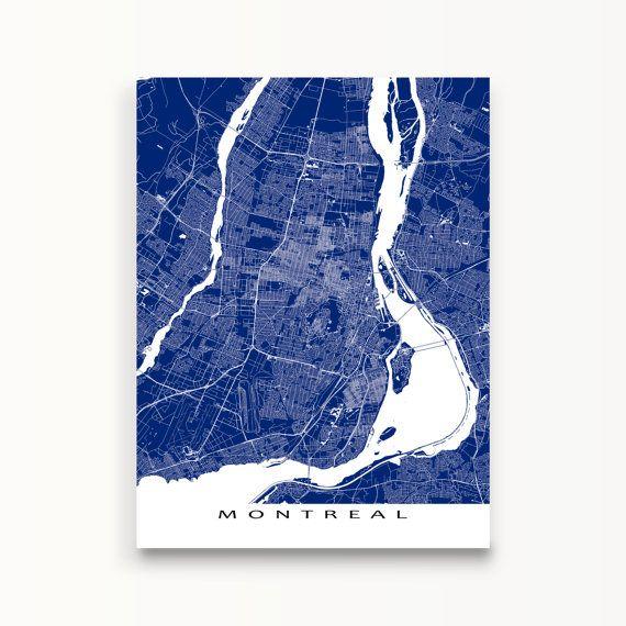Tirages De Carte De Montreal Art De Montreal Montreal Quebec Carte Impression Carte Montreal Art Carte Tirage De Carte