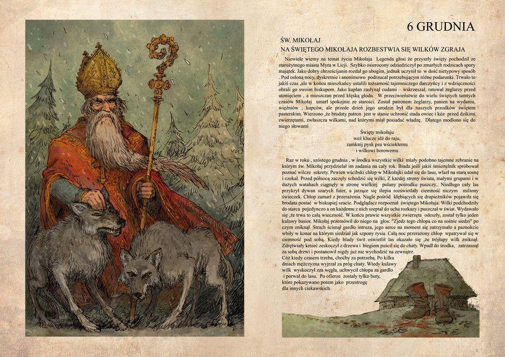 Santa Claus and wolves by Hetman80.deviantart.com on @DeviantArt