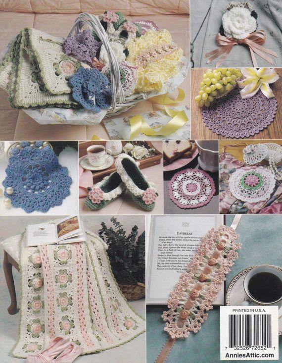 Moms Gift Basket Annies Attic Crochet Pattern Booklet 872652 Lap