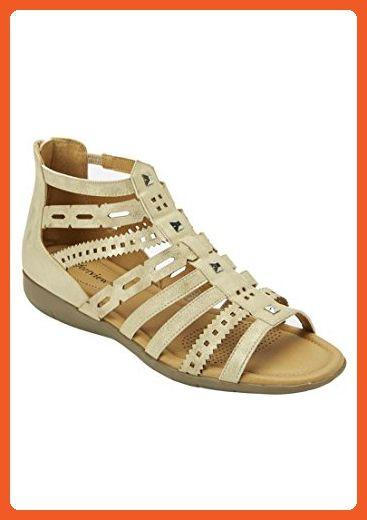 1d3ae986531e0 Comfortview Women's Wide Briana Sandals Light Gold,10 1/2Ww ...