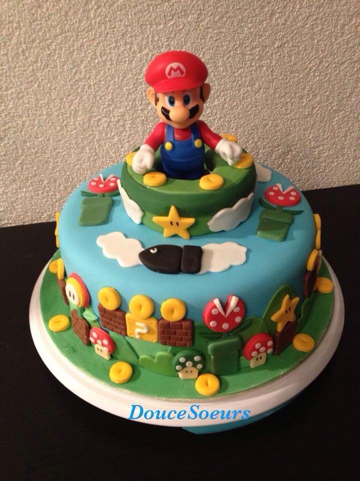 Cake Mario Bross Fondant Cake Inspiration Pinterest Cake