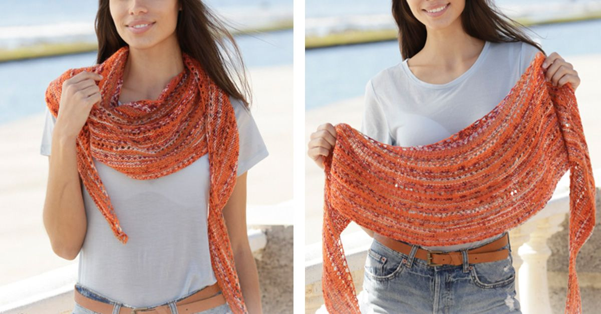 Solar Flares Knitted Shawl [FREE Knitting Pattern]