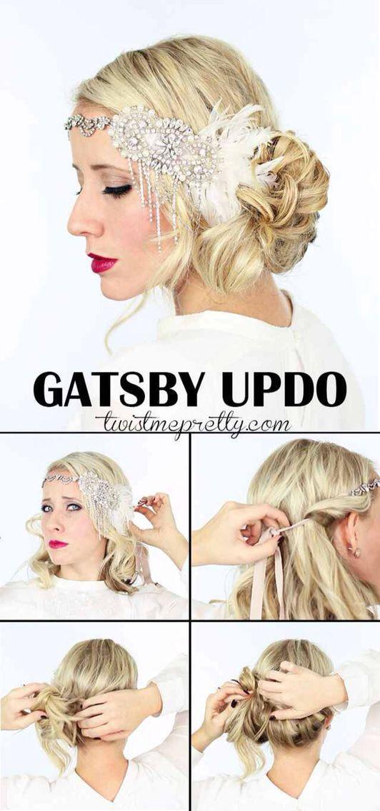 Gatsby Updo Flapper Hair Long Hair Tutorial Gatsby Hair
